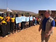 WFP Chef og Sudans Premiereminister på historisk besøg i Nuba-bjergene i Sydkordofan