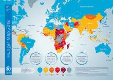 2018 - Kort over sult i verden