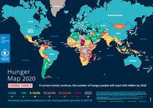 Kort over sult i verden 2020