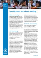To minutter vedrørende skolemåltider