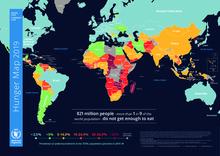 2019 - Kort over sult i verden